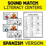 Spanish Sound Match Literacy Centers