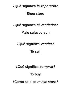 Spanish - Santillana U3D1 - Quiz, Quiz, Trade