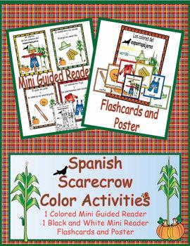 Spanish Scarecrow Colors Activities