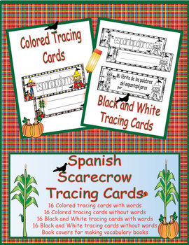 Spanish Scarecrow Tracing Cards