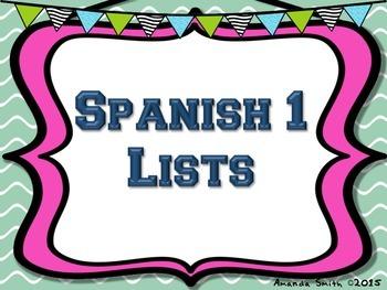 Spanish Scattergories