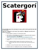 Spanish Scattergories Classroom Game