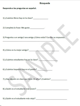 Spanish Scavenger Hunt