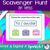 Spanish Scavenger Hunt - AR verbs {Distance Learning}