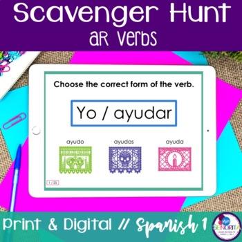 Spanish Scavenger Hunt - AR verbs