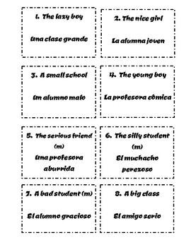 Spanish Scavenger Hunt: Articles/Nouns/Adjectives