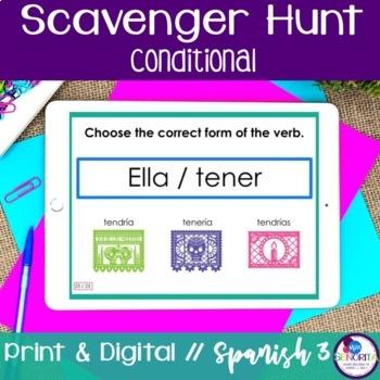 Spanish Scavenger Hunt - Conditional Tense