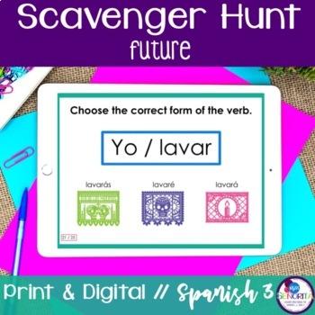 Spanish Scavenger Hunt - Future Tense