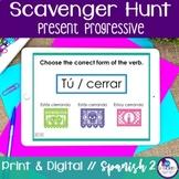 Spanish Scavenger Hunt - Present Progressive Tense