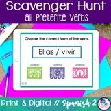 Spanish Scavenger Hunt - Preterite Tense (All Forms)