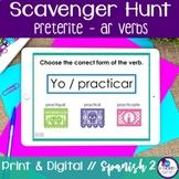 Spanish Scavenger Hunt - Preterite Tense (-AR Verbs)