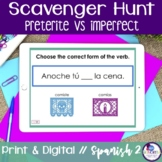 Spanish Scavenger Hunt - Preterite vs Imperfect