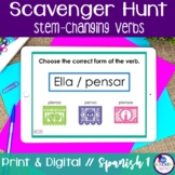 Spanish Scavenger Hunt - Stem-changing Verbs {Distance Learning}
