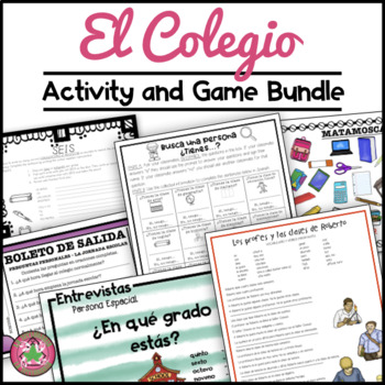 Spanish School Activity Bundle