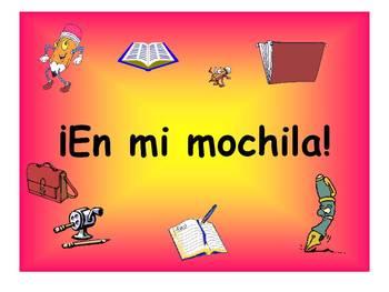 Spanish Teaching Resources. School Bag Items PowerPoint