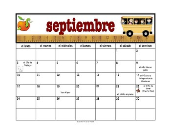Spanish Calendar:  Days, Months, and Seasons (FREE UPDATES FOR LIFE!)