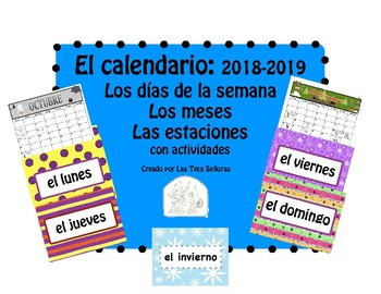 Spanish Calendar:  Days, Months, and Seasons (FREE UPDATES