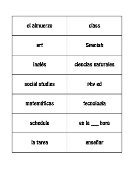 Spanish School Day Buzz Game