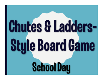 Spanish School Day Chutes and Ladders-Style Game