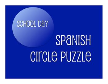 Spanish School Day Circle Puzzle