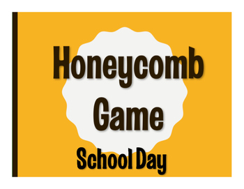 Spanish School Day Honeycomb Game