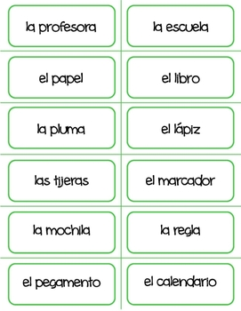 Spanish - School Flashcards