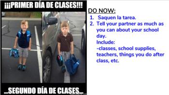 Spanish School Life (La Vida Escolar / La Escuela) Primer Día de Clases