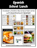 Spanish School Lunch Vocabulary Posters & Flashcards with