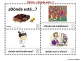 Spanish School Places 2 Booklets - Donde Esta en la Escuela?