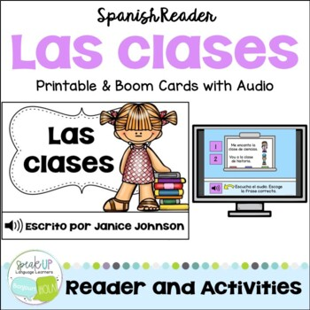 Spanish School Subject Reader {las clases} & Vocabulary Pa