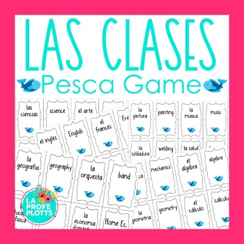 Spanish School Subject Vocabulary ¡Pesca! (Go Fish) Game