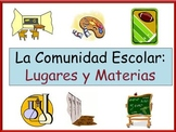Spanish School Subject and Places in School Vocabulary Powerpoint