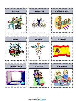 Spanish School Subjects / Las Asignaturas Flash Cards & Interactive Notebook