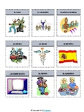 Spanish School Subjects / Las Asignaturas Flash Cards & Interactive Notebook