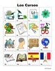 Spanish School Subjects Vocabulary PICTURE Notes SET