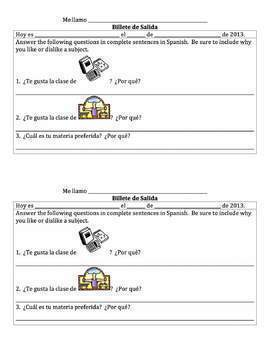 Spanish School Subjects with Gustar and Porque Lesson