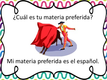 Spanish School Subjects with Gustar and Porque Powerpoint