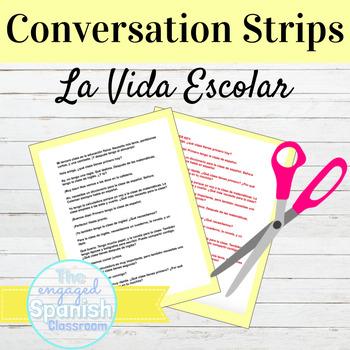 Spanish School Supplies Conversation Strips