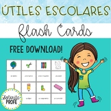 Free Spanish School Supplies Flashcards