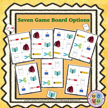 Spanish School Supplies Game and Sing-Along