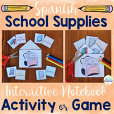Spanish School Supplies Interactive Notebook Activity