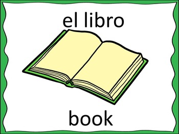 Spanish School Supplies Powerpoint Lesson Word Wall