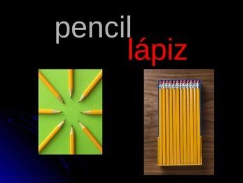 Spanish School Supplies Power Point