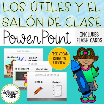 Spanish Classroom Objects PowerPoint