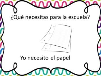 Spanish School Supplies Powerpoint