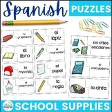 Spanish School Supplies Puzzles