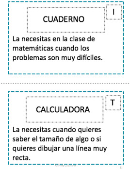 Materiales Escolares Riddles and Direct Object Pronoun Practice