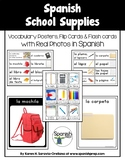 Spanish School Supplies Vocabulary Posters & Flashcards wi