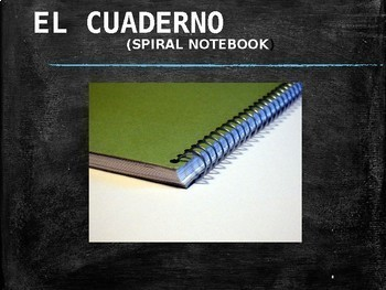Spanish School Supplies and Courses Powerpoint