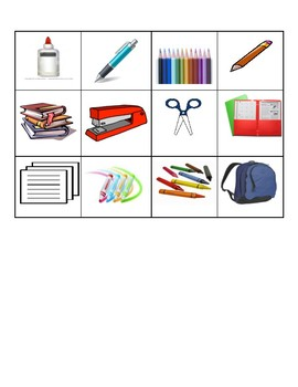 Spanish School Supplies and Orientation Prepositions Activity | Preposiciones